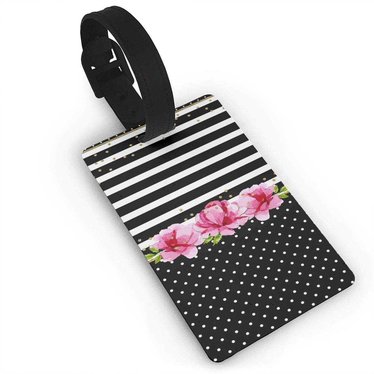 2 Pack Luggage Tags Colorful Polka Dot Handbag Tag For Suitcase Bag Accessories