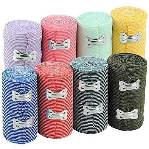 Gracefulvara 50 Pcs Metal Style Clips Elastic Bandages Spares for Ace Type Body Wrap