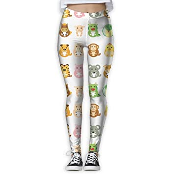 2f54db1d4b595 Image Unavailable. Image not available for. Color: Women's Girl Chinese  Zodiac Animal Fashion Slim High Waist Tights Yoga Pants Sport Gym Running  Fitness