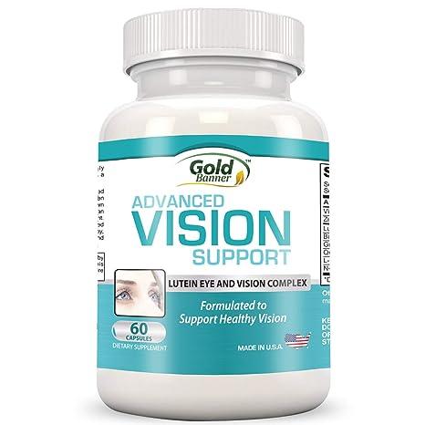 Gold Banner- Apoyo avanzado para la vista con luteína - Pastillas de fórmula para la