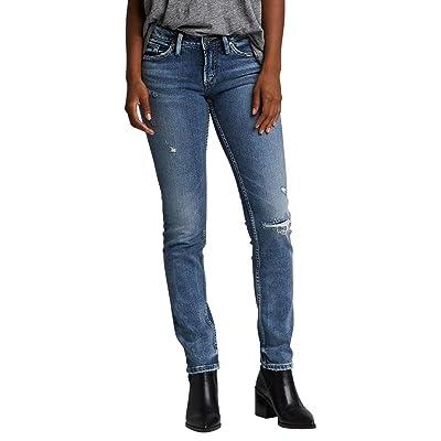 Silver Jeans Co. Women's Suki Curvy Fit Mid Rise Slim Leg Jeans: Clothing
