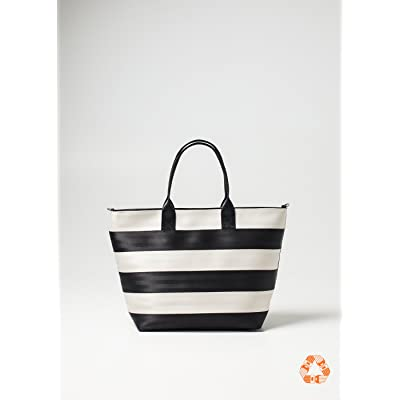 Harveys Medium Streamline Tote Black & White