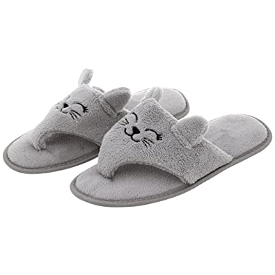 a0131140b249fe Kitty Love Cozy Flip Flop Slippers (6)