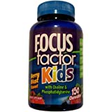 FOCUSfactor for Kids  Chewable Wafers  Berry Blast  150-Count