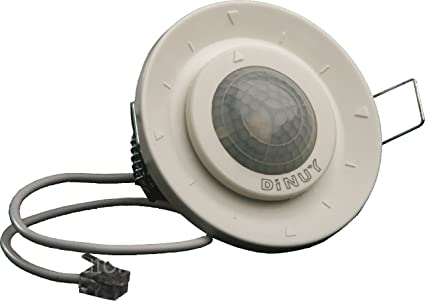 Detector de movimiento con tecnología PIR empotrable, para interior. • Actúa como detector esclavo