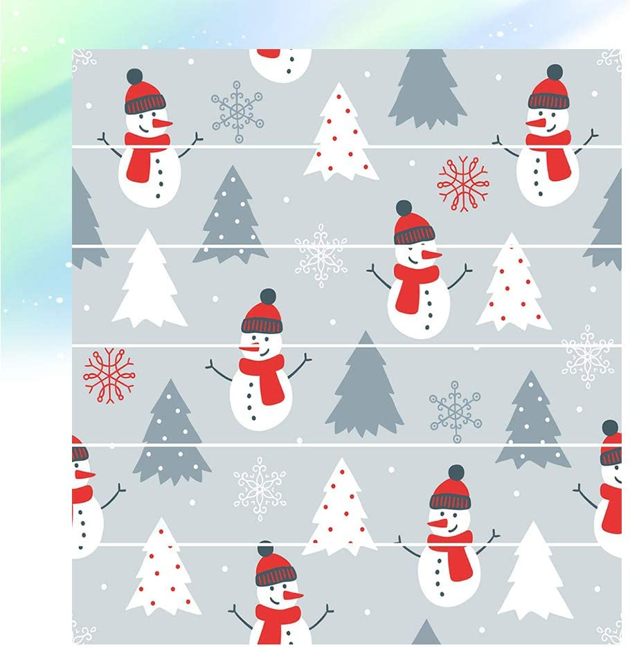Amosfun Etiquetas engomadas de la Escalera de Navidad Decoración Etiqueta de la Escalera Decorativa Etiqueta engomada Adhesiva sin decoloración de PVC (muñeco de Nieve): Amazon.es: Hogar