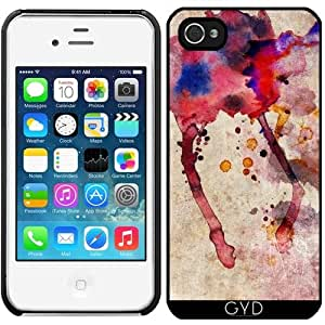 Funda para Iphone 4/4S - Salpicaduras De Color Rojo by Aloke Design