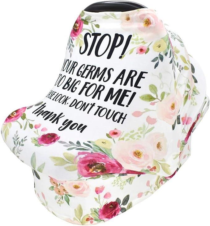 Baby Autositzbezug Stilltuch Schal Mit Sicherheitswarnung Kein Berühren Des Schildes Für Kleinkinder Weich Atmungsaktiv Baby