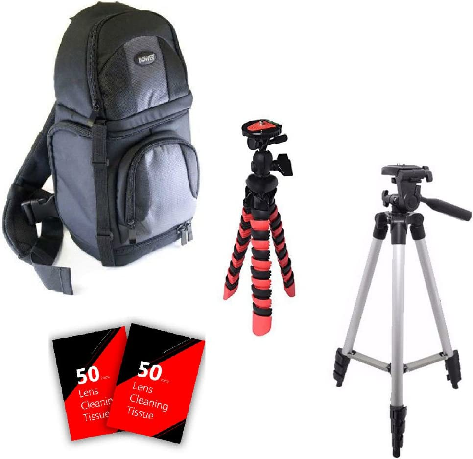 Flexible and Tall Tripod and Accessory Kit for Pentax K-3 and All Pentax D-SLR Cameras