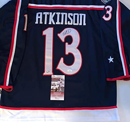 super popular 3f560 791a5 Cam Atkinson Signed Jersey - JSA Certified - Autographed NHL ...