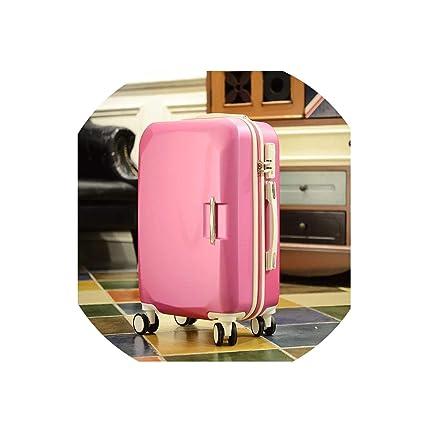 Amazon.com: Maleta con ruedas y bolsas de viaje, color rojo ...