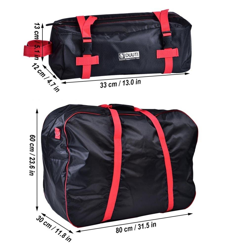 Dilwe Bicycle Carry Bag, Portable Folding 2 Sizes Transport Cover Carrying Case for 14-20in Bikes with Shoulder Strap by Dilwe (Image #3)