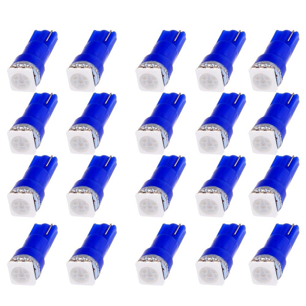 Cciyu 4x Car T5 B84d 5050 1smd Blue Led Lamps Dashboard Side Dodge Ram 1500 Warning Lights Indicator