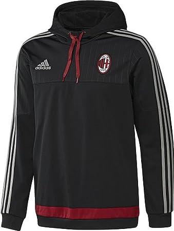 ae3b5c5da9ca adidas Performance AC Milan Football Hooded Sweatshirt - XS  Amazon ...