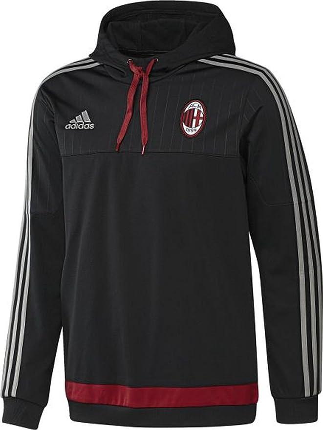 b6cd99a2143a adidas Performance AC Milan Football Hooded Sweatshirt - XS  Amazon.co.uk   Sports   Outdoors