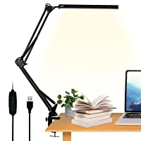 Deals on VEHHE Eye-Caring Swing Arm Office Lamp with Clamp