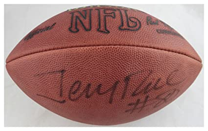4381229e4 Image Unavailable. Image not available for. Color  Jerry Rice Autographed  Signed Wilson NFL Leather Football ...