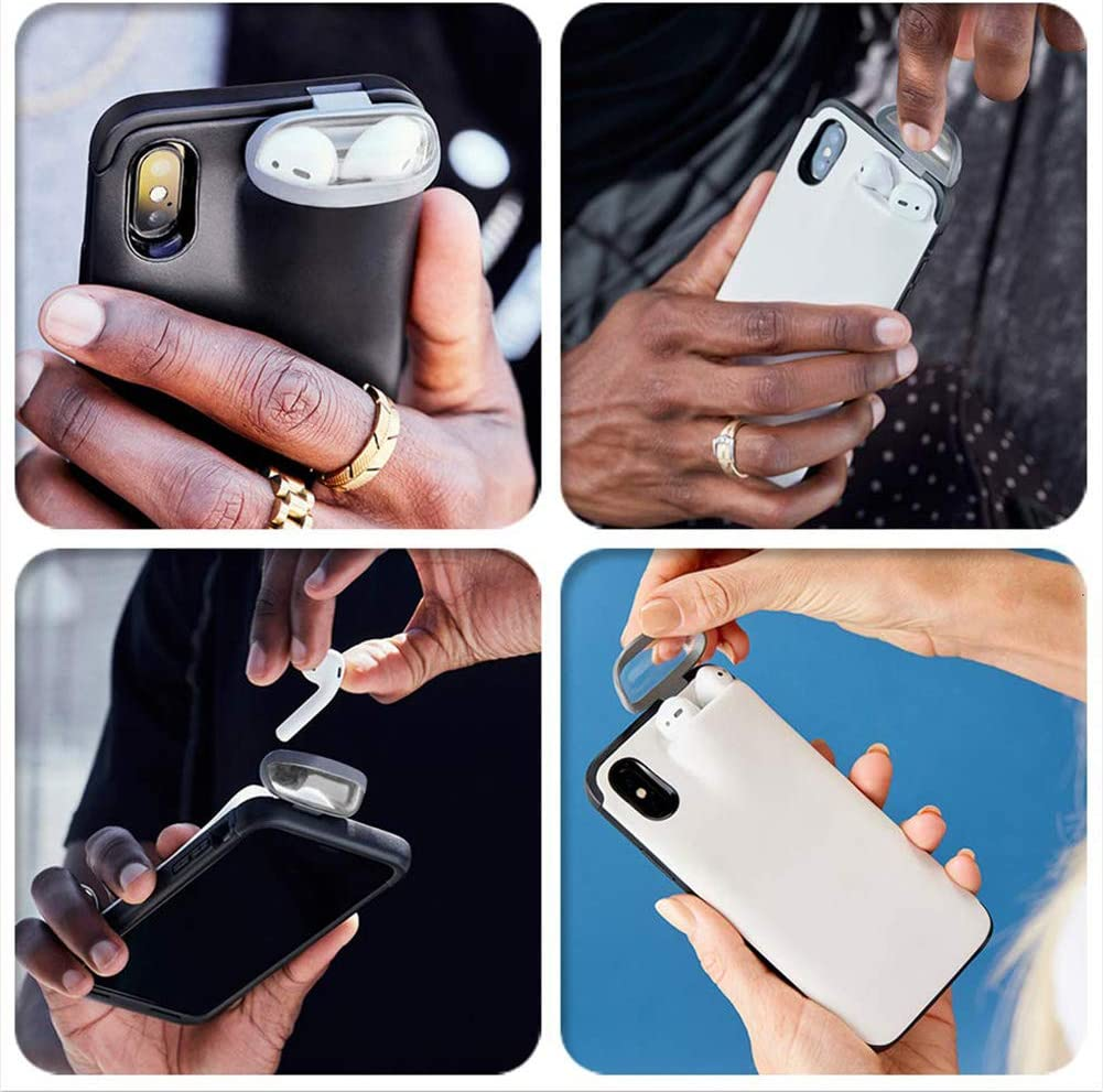 MXKOCO 2 in 1 Phonecase for iPhone 11 Pro and AirPods-case, Silicone Soft Rubber Bumper Case Shockproof Cover for iPhone 11 Pro and AirPods Case