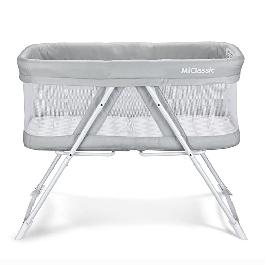 2in1 Stationary&Rock Mode Bassinet One-Second Fold Travel Crib Portable Newborn Baby