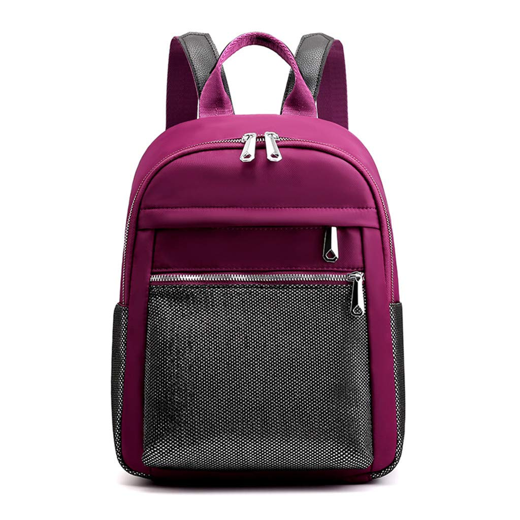 School Waterproof Backpack College Vintage Travel Bag for Women Men,Laptop for Student (Purple B, Free) by Qisc-Bag
