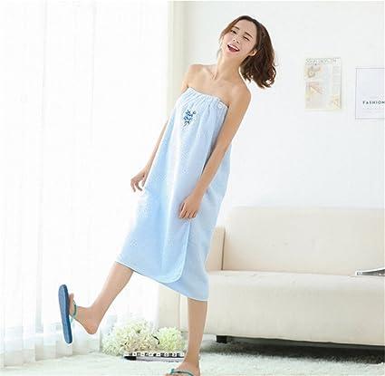 MIWANG Simple y elegante casa de baño de algodón puro faldas, agua y pecho batas