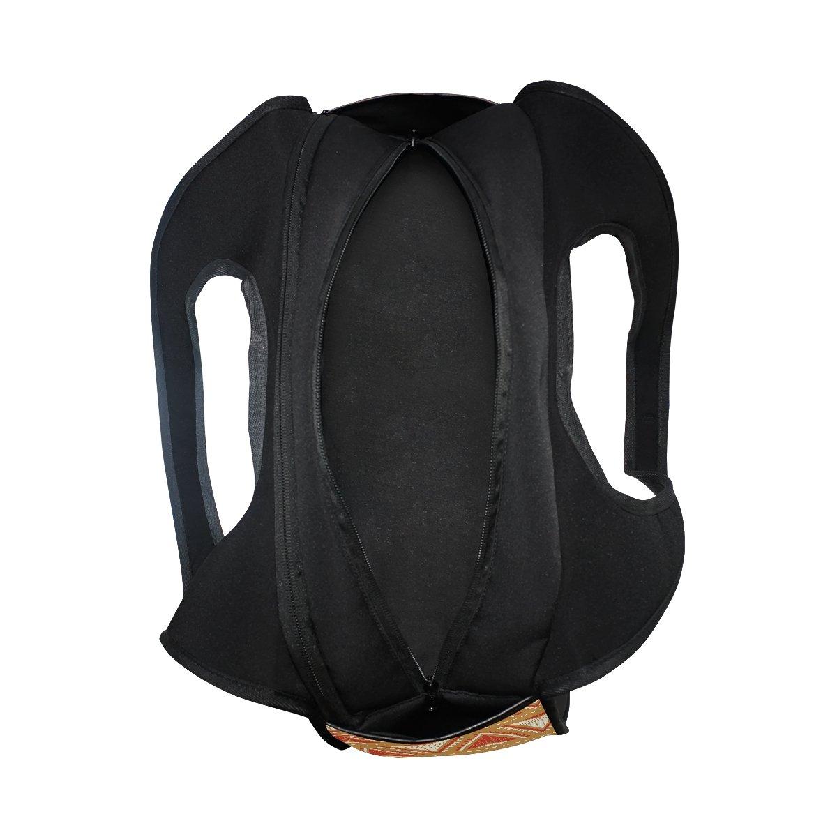 AHOMY Canvas Sports Gym Bag Chevron Travel Shoulder Bag