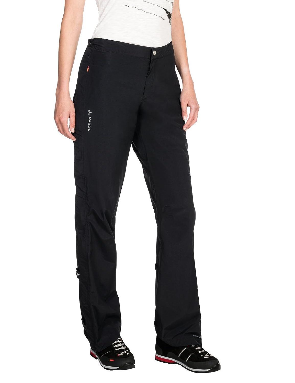 Noir Taille 34 VAUDE Pantalon pour Femme Yaras Rain Zip Pants II