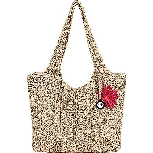 The Sak Casual Classics Large Tote Bag - Nat Silver Fabric Handbags