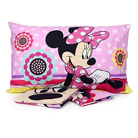 ebe9260d4a PERSONAGGI Completo Letto Una Piazza Singolo Cotone sopra sotto federe  Minnie Mouse Originale
