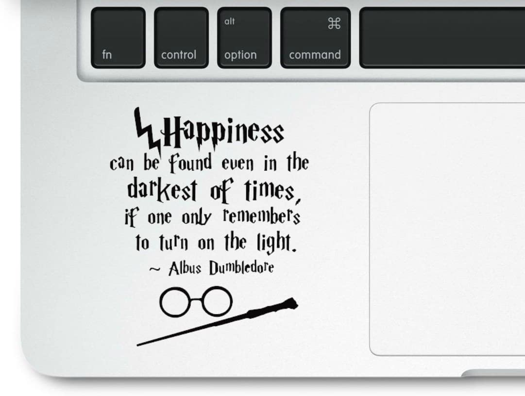 Motivational Life Quote Happiness can be Found Clear Vinyl Printed Decal Sticker for Laptop Compatible with All MacBook Retina, Pro and Air Models Trackpad