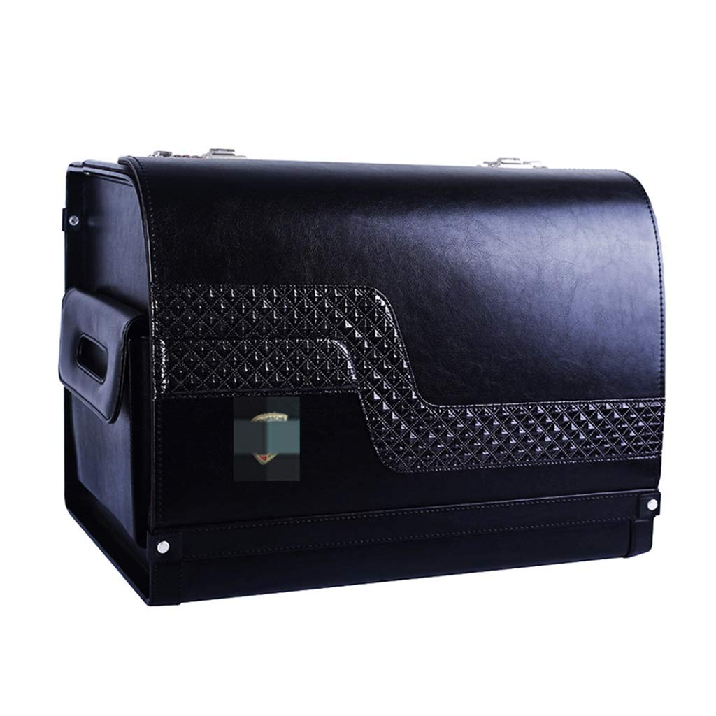 Car Organiser Car Storage Box Trunk Storage Box Storage Box Suitable for All Types of Vehicles (Color : Black, Size : 483235cm)