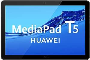 "HUAWEI MediaPad T5 - Tablet de 10.1"" FullHD (Wifi, RAM de 4GB, ROM de 64GB, Android 8.0, EMUI 8.0), Color Negro"