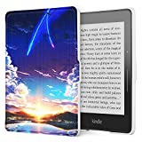 sfxscs Protective Case for Amazon Kindle Voyage(2014), The Thinnest and Lightest Premium PU Leather Slim Shell Cover with Auto Sleep/Wake, Your Name