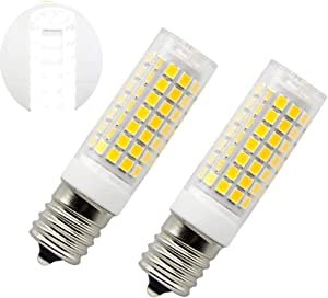 8206232A Bulb E17 LED Bulbs 40W Lava Lamp Bulb 125v Microwave Oven Light Replacement Part for Whirlpool Kenmore Microwave (Daylight 6000K)