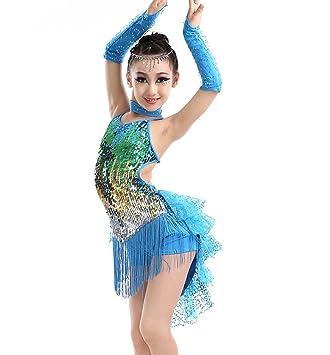 Falda de Baile Latino para niños Disfraz de Flecos Latinos ...