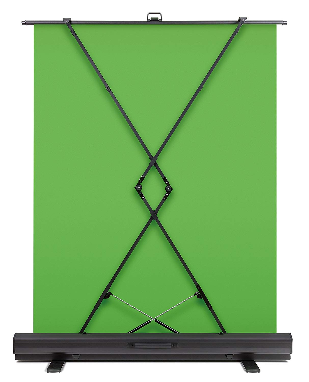 Collapsible chroma key panel for background removal with auto-locking frame Elgato Green Screen wrinkle-resistant chroma-green fabric aluminum hard case ultra-quick setup and breakdown