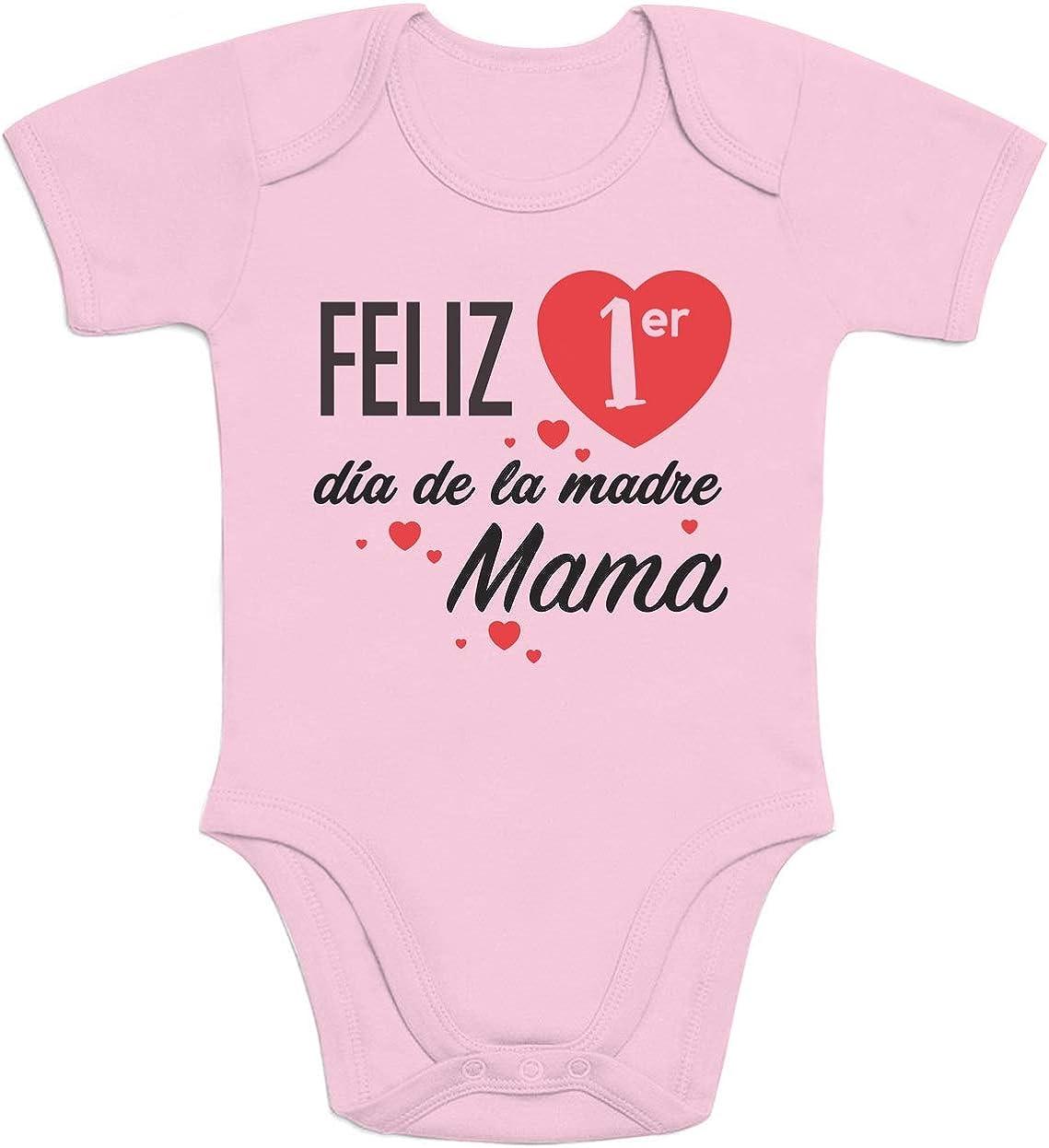 Body de Manga Corta para bebé - Regalo Feliz Primer Mamá día de la Madre