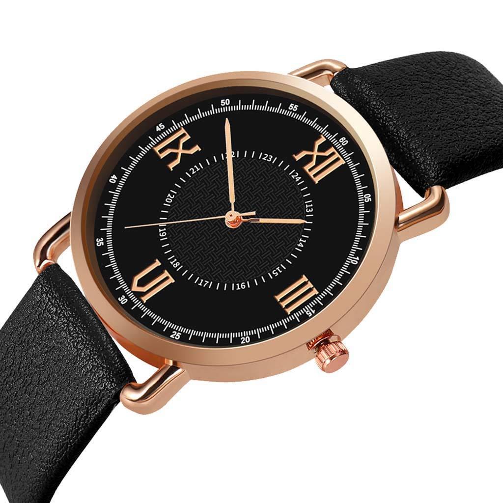 Amazon.com : XBKPLO Quartz Watches Mens Fashion Minimalist Thin Sport Analog Wrist Watch Rose Gold Case Leather Strap Business Watch Jewelry Gift : Pet ...