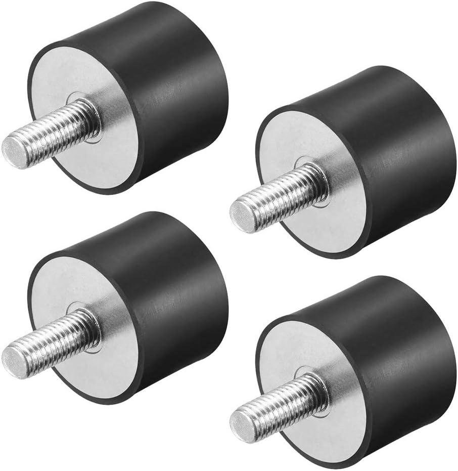 4 pi/èces Vis en Caoutchouc Anti Vibrations Amortisseur de vibrations silentblock Gobesty Supports isolateur en caoutchouc VD30 x 20, M8 x 23