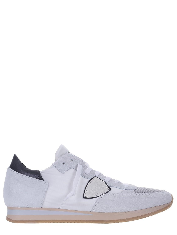 Philippe Model - Zapatillas de Ante para Hombre Blanco Bianco -