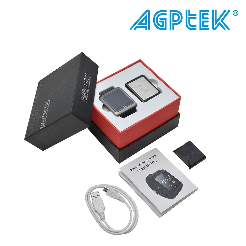AGPtek U11 Reloj Inteligente Soporta gsm SIM Smartphone Android, cámara de 3.0 megapíxeles, Bluetooth 4.0