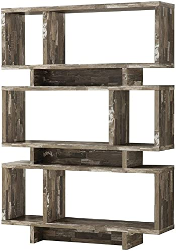 Coaster 800846-CO 3 Shelf Modern Bookcase, Salvaged Cabin