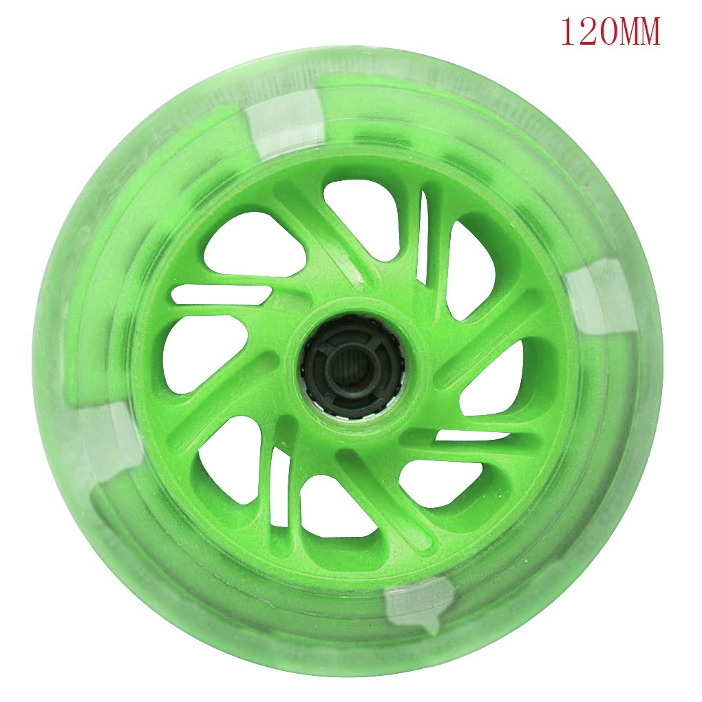 2pcs 76-120mm LED Flash Light Up Wheel for Mini Micro Scooter with 2 ABEC-7 Bearings by AUWU