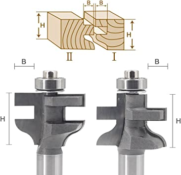 1//2-inch x 1//8-inch T Type Carbide Tipped Slot Slotting Rabbeting Router Bit