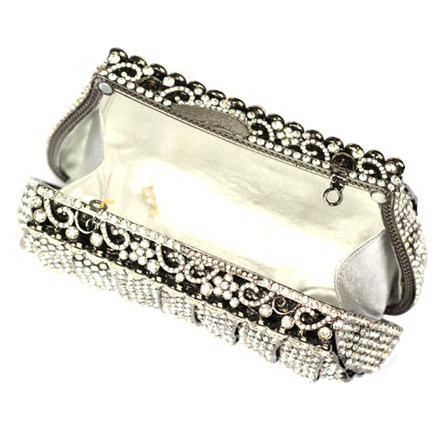 Abless Elegant Purses for Girls Rhinestone Crystal Clutch Evening Bag