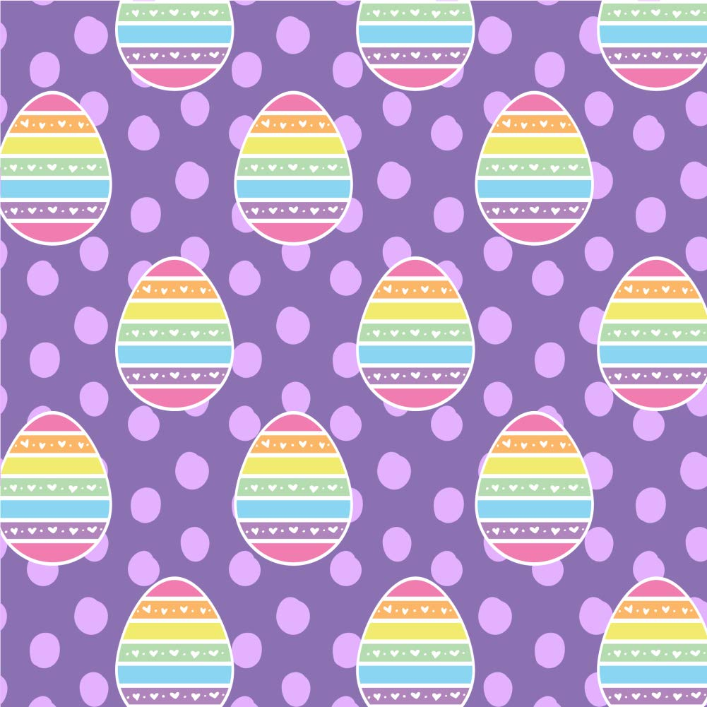 GRAPHICS & MORE Cute Rainbow Happy Easter Egg Premium Roll Gift Wrap Wrapping Paper