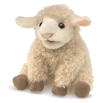 Folkmanis 3129 Small Lamb Hand Puppet, One Size, Multicolor: Toys & Games