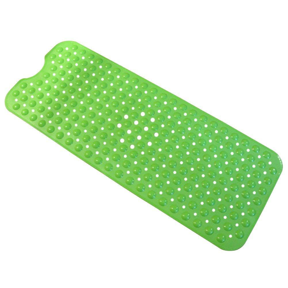 Dasior Anti-Slip Bathtub Shower Mat Extra Long for Bathroom, Anti Bacterial, Machine Washable Lime Green