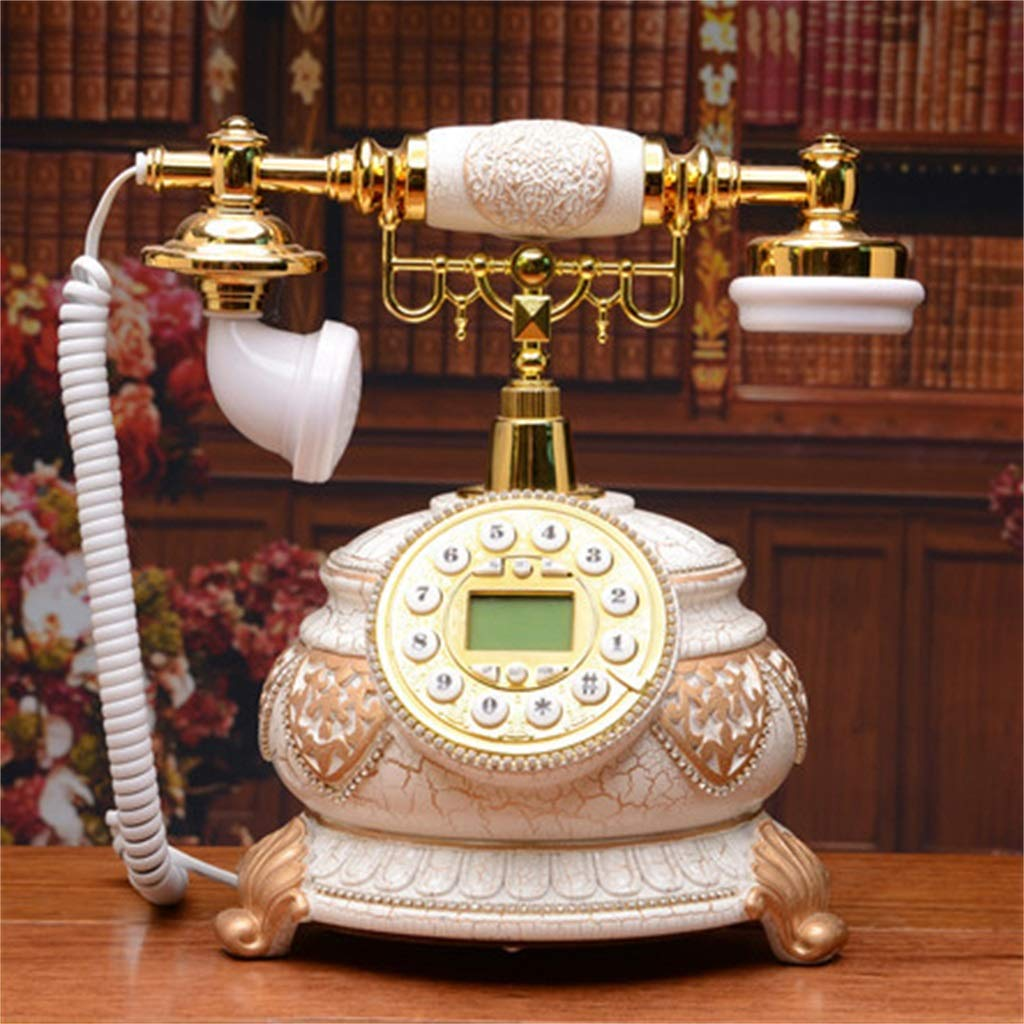 JGBHPNYX Antique Telephone with Answering Machine Traditional Bell Ring and with Rotary Dial Vintage Retro Landline