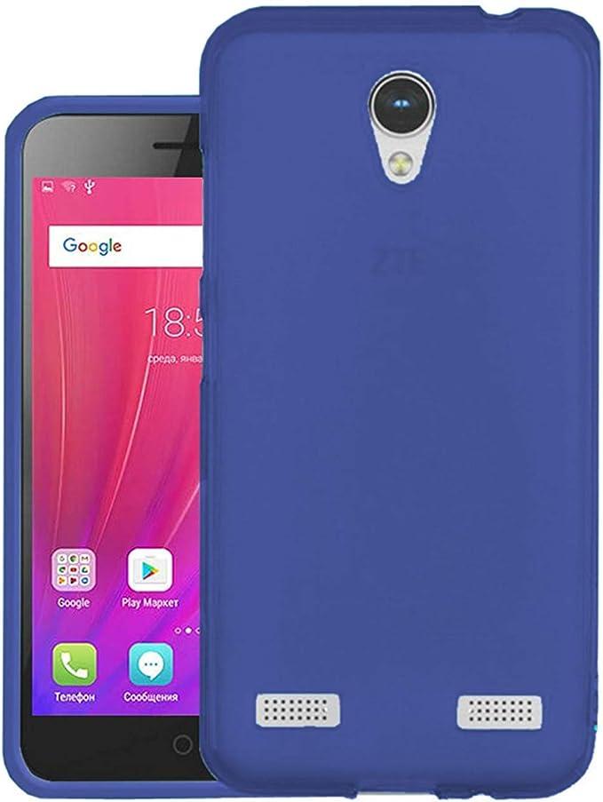 MB ACCESORIOS Funda Silicona Azul para ZTE Blade A520: Amazon.es: Electrónica